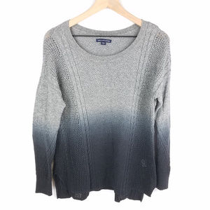 American Eagle Grey Ombre Knit Sweater Sz M